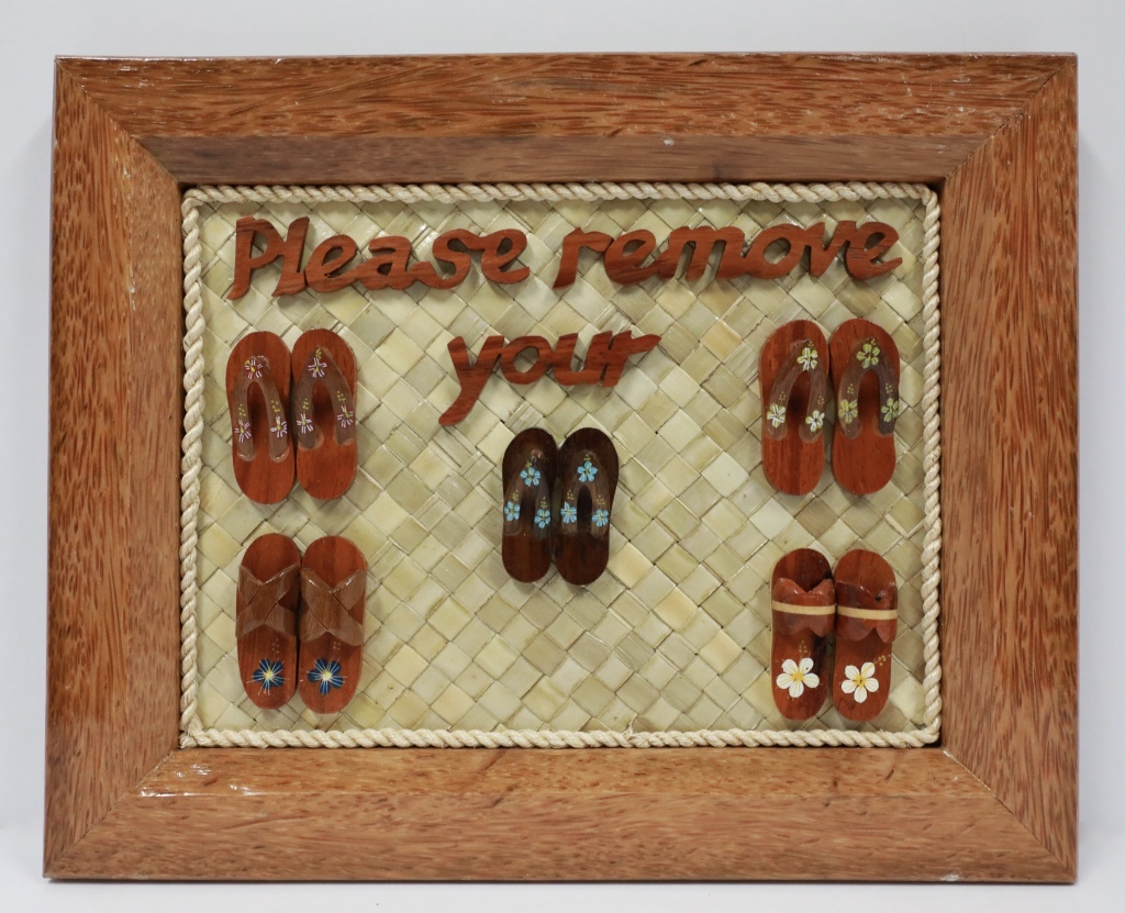 Wood Coco frame 5 set slippers paint
