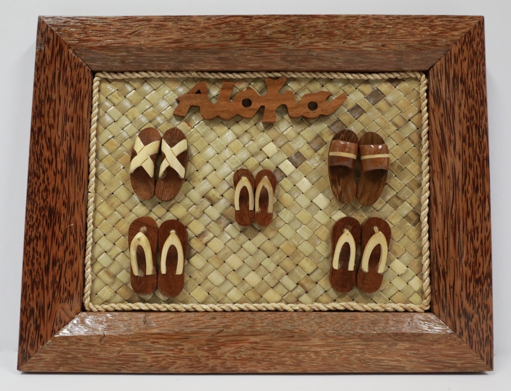 Wood Coco frame 5 sets slippers plain