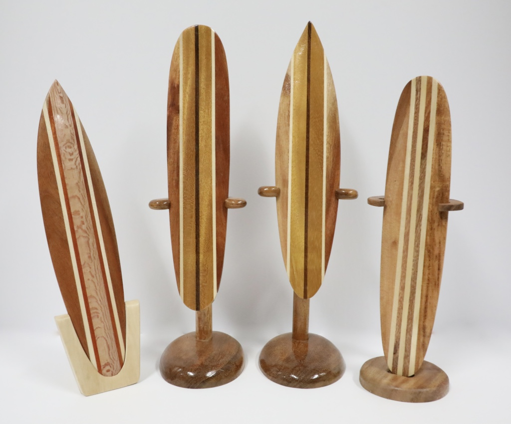 Wood surf & long board with stand